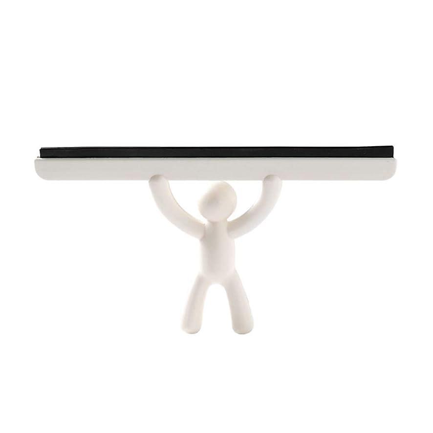スイッチ柔らかい足専門知識ガラスワイパー家庭用クリーニングツール床こするガラス窓ワイパークリーナーこするゴムシャワー浴室車ブレードブラシ (Color : Beige)