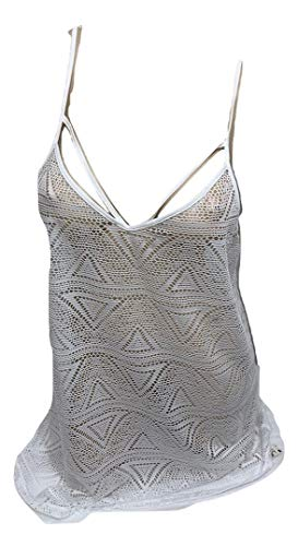 Victoria's Secret Pink Mesh Beach Cover Up Tank Color White Large NWT