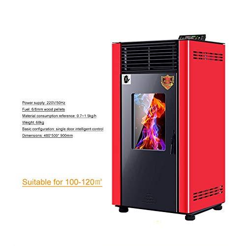 Estufa De Pellets Chimenea De Pellets Totalmente automática Pequeño biomasa de pellets Calentador, inteligente hogar ahorro de energía y ambientalmente amistoso Estufa de pellets ( Color : 100-120 )