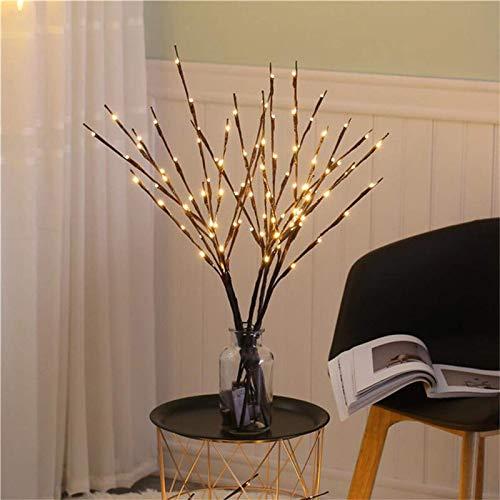QFWM Lámpara LED de escritorio, funciona con pilas, de simulación de rama, luz nocturna, mesita de noche