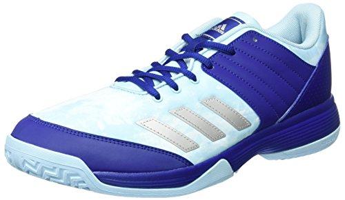 adidas adidas Damen Ligra 5 Volleyballschuhe, Blau (Mystery Ink/Silver Metallic/Footwear White), 38 EU