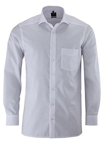 OLYMP Herren Hemd Modern Fit Langarm Weiss (10) 48