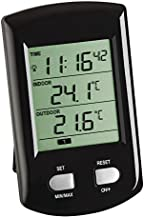 TFA 30.3034.01 Ratio - Termómetro digital con sensor remoto (negro con baterías)
