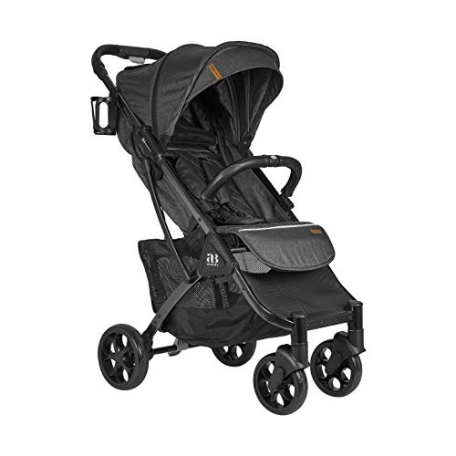 Lightweight Stroller, Premium Compact Travel Stroller. Fully Reclining Seat Suitable for Toddlers and Children (Dark Grey)