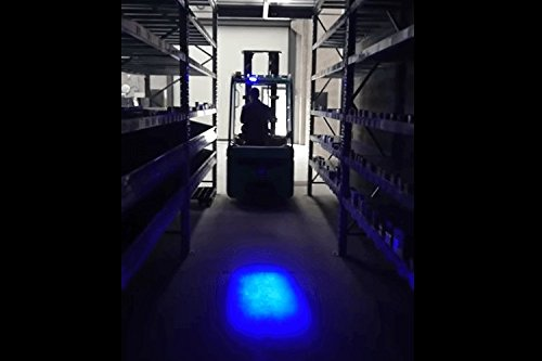 CARALL FS1709B LED-Scheinwerferlampe für Gabelstapler Blaues Licht 9V-60V 20W Optisches Warnsignal