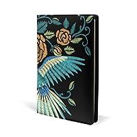 ブックカバー a5 バラ 鳥 きれい 文庫 PUレザー ファイル オフィス用品 読書 文庫判 資料 日記 収納入れ 高級感 耐久性 雑貨 プレゼント 機能性 耐久性 軽量