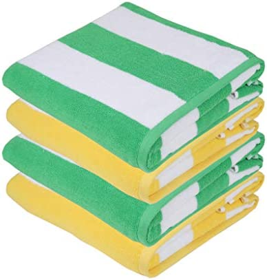 /& Highly Absorbent Sweet Needle Beach Towel 450 GSM Multi Colors 76 x 152 cm Pack of 2 - 100/% Ringspun Cotton Premium Quality Miami Vibe Multi Stripe Beach Towels Heavy Weight
