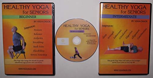Yoga for Seniors - 3 DVD Set: Beginner, Intermediate & Bonus DVD