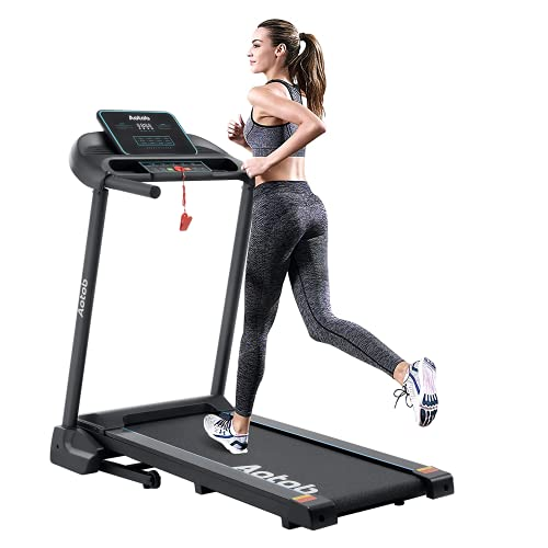 Aotob Treadmills for Home, Foldable Treadmills for Running and Walking Jogging Exercise, Portable Indoor Running Machine with 12 Set Programs, 300 LBS Weight Capacity