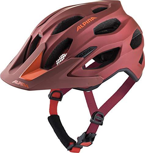 Alpina Unisex– Erwachsene Carapax 2.0 Fahrradhelm, Indigo-Cherry Drop, 57-62 cm