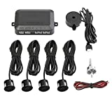 Sensor de Aparcamiento Set 4 Copia de Seguridad automática Alerta Engranaje inversa backupassist Car Kit Aparcamiento Alarma, Negro
