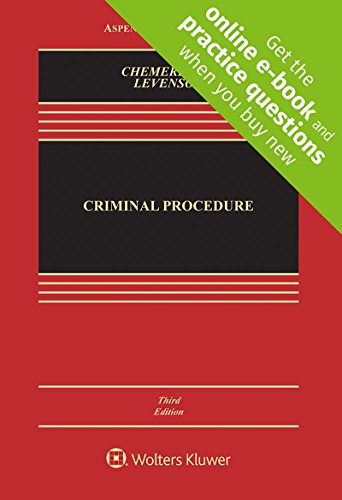 Compare Textbook Prices for Criminal Procedure [Connected Casebook] Aspen Casebook 3 Edition ISBN 9781454876656 by Erwin Chemerinsky,Laurie L. Levenson
