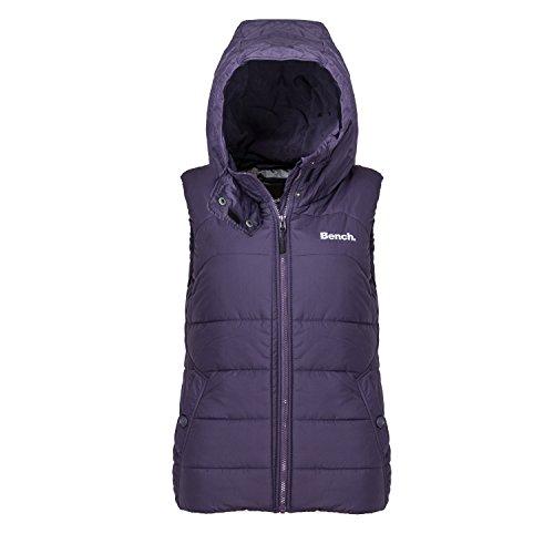 Bench Damen Jacke Steppweste Trickster III violett (Dunkelviolett) 36