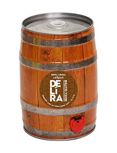 Birra Artigianale Cruda Italiana DELìRA Pale ALE Senza Glutine- Fusto 5 Litri - Prodotta da I.C.B....