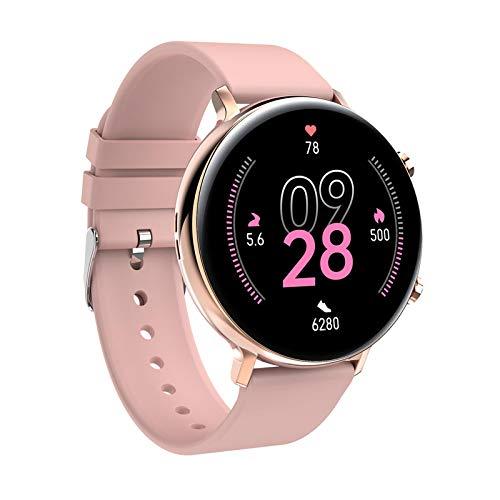AYZE Relojes Inteligentes Hombre GPS Pantalla IPS De 1,28', Batería De 200 mAh, Bluetooth para Responder Llamadas, Carga MagnéTica, Grabación De Datos De Fitness, Smartwatch Mujer Rosa Pink