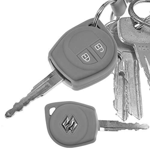Soft Case Schutz Hülle Auto Schlüssel für Suzuki Swift SX4 Vitara JIMNY Funkschlüssel/Farbe Grau