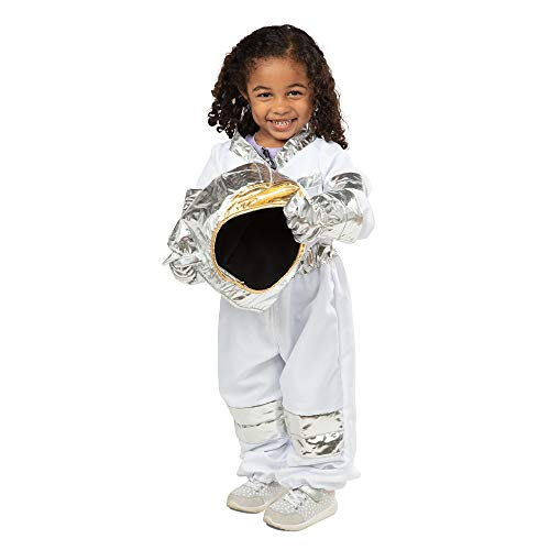 Melissa & Doug Astronaut Role Play Space Costume Set (5 pcs) - Jumpsuit, Helmet, Gloves, Name Tag