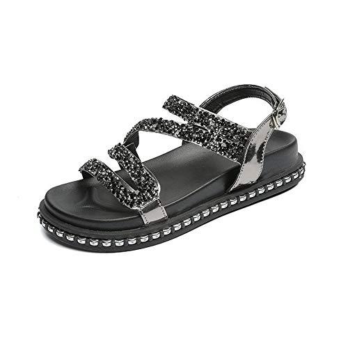 Ladies Summer Sandals Ladies Sequined Flat Sandals Casual Ladies Sandals