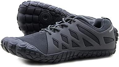 Oranginer Men's Walking Zero-Drop Minimalist Shoes Barefoot Running Shoes Indoor Cross Training Shoes Slip-on Tennis Shoes Gray Size 11