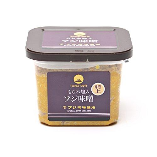 山形県産米ササニシキと国産丸大豆使用・特上味噌(つぶ)(750g)カップ入り・もち米麹入り麹歩合150の最高級味噌