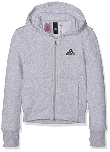 adidas Mädchen Sport ID Full Zip Jacke, Light Grey Heather/Tactile Rose/Black, 170