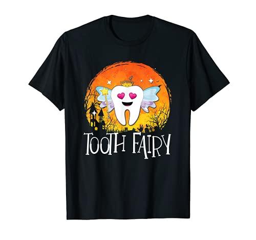 Disfraz de hada de los dientes de Halloween para nias y adultos Camiseta
