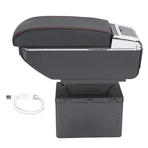 Box bracciolo, contenitore box bracciolo console centrale auto universale regolabile con interfaccia USB