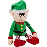 Christmas Elf Plush Toy - Mas The Elf, Little Santa Helper Kids Soft Stuffed Toy, Fun for Girls and Boys, Festive Decoration, Red and Green, 8.7 x 6.5 Inches