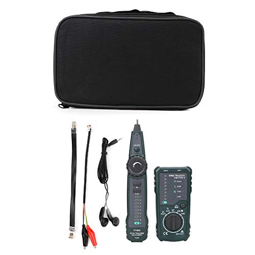 Nicoone Probador de Cable de Red Telefónica Fy868 Rj45 Rj11 Lan Wire Tracker Kit