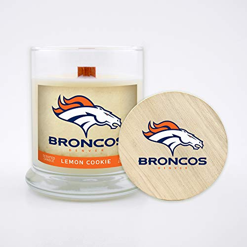 Worthy Promotional NFL Houston Texans Linen Scented 6 oz Soy Wax Candle Wood Wick