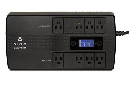 Vertiv Liebert PST5 850VA 500W UPS with Battery Backup & Surge Protection, Eight outlets and a Three-Year, Full Unit Warranty (PST5-850MT120)