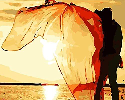 XINTONG Rompecabezas para Adultos, 1000 Piezas, Modelo artístico, Pareja, Puesta de Sol, Junto al mar, Sala de Estar, Arte, Rompecabezas de Madera, Estilo DIY