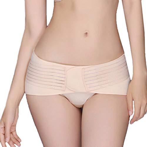 Corrector de posturas para mujer, talla grande, para prevenir el dolor ajustable, corrección adelgazante vientre, plano nudo (90 cm ~ 110 cm) multicolor beige XL