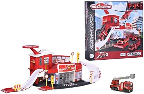 Dickie Toys 212050014' Creatix Fire Station Spielzeug, Rot/Weiß/Gelb