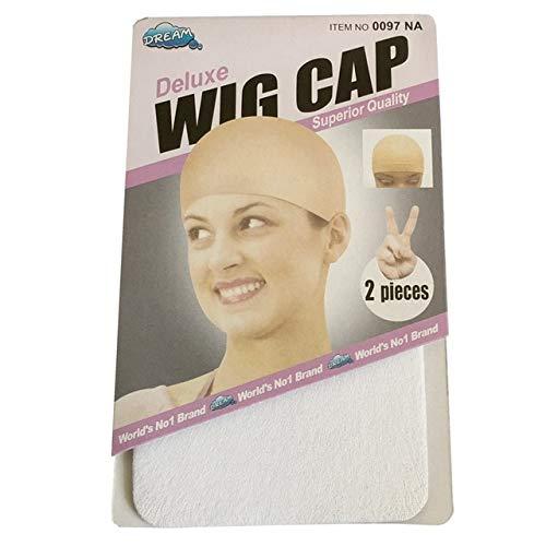 Perruque Cap Filet à cheveux, Cheveux Maille Perruque, Tissage Cap Extensible Élastique Cheveux Net 5 Couleur 2 Pièces/pack