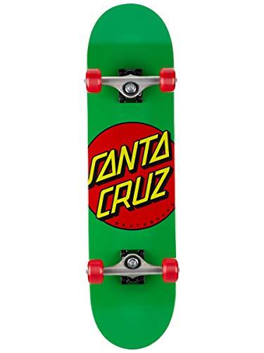 Santa Cruz Classic Dot Mid Sk8 Completes, Green 7.80in x 31.00in