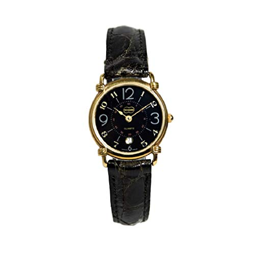 Reloj de vestido Black Vintage Dress Watch XMC578 Swiss Made