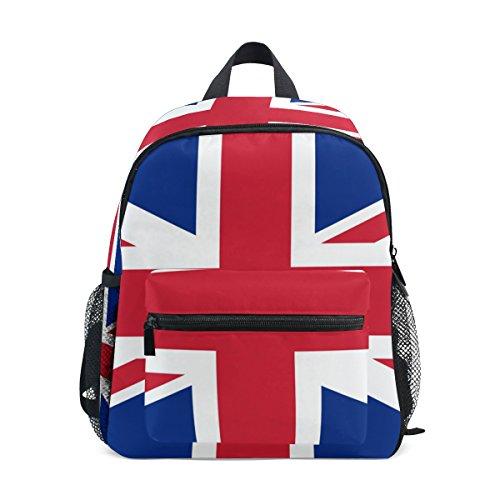 LIANCHENYI - Mochila escolar unisex de la bandera de Inglaterra para niños y niñas