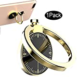 CaseHQ Gold Cell Phone Ring Holder, Grip Kickstand, 360 Rotation, Finger Grip/Stand/Kickstand/Car Mount, Water Drip Shape, Zinc Alloy Finger Stand for iPhone X, 8/8plus,7, 7Plus, 6s Cellphone