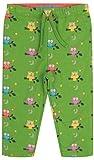 Piccalilly Wendbare Kinderhose aus weichem Jersey aus Bio-Baumwolle, Motiv: grüne Eule Gr. 3-6 Monate, grün