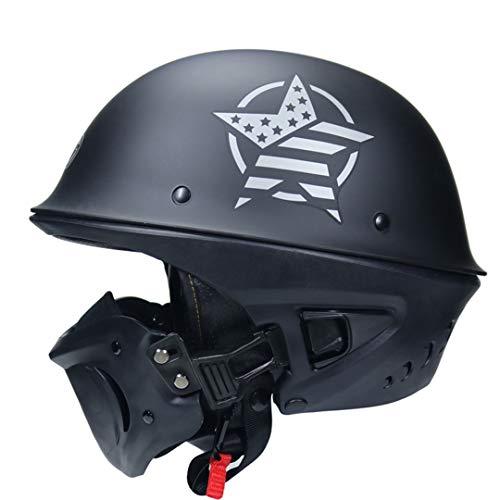 Ger-Gisntips Styling Bell Rogue Casco Moto Mate Negro