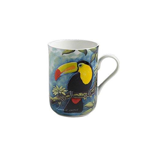 Maxwell & Williams PBW1001 Birds of the World Becher, Kaffeebecher, Tasse mit Vogelmotiv: Tukan, in Geschenkbox, Porzellan