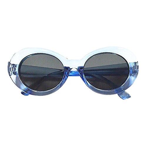 Likecrazy Brille Unisex Rapper Oval Shades Sonnenbrille 2019 Streetwear Eyewear Anti UV 400 DamenBrille polarisiert, für Frauen und Männer Retro Sonnenbrille im Steampunk Stil