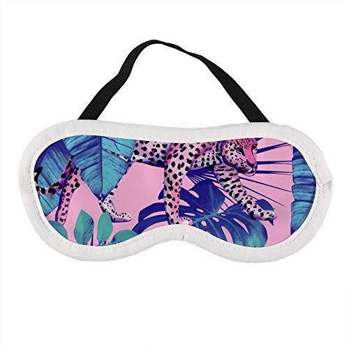 Tragbare Augenmaske für Damen und Herren, Leoparden- und Schildkrötenblätter, die beste Schlafmaske für Reisen, Nickerchen, gibt Ihnen die beste Schlafumgebung