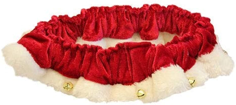 Huxley & Kent Red Santa Holiday Ruff Scrunchy Bells (XSmall)