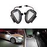 Luci a LED per specchietti retrovisori laterali per auto, colore: bianco