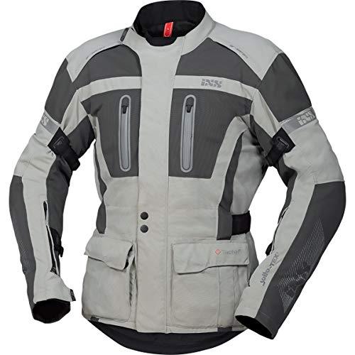 IXS Motorradjacke mit Protektoren Motorrad Jacke Pacora-ST Textiljacke hellgrau/dunkelgrau 4XL, Herren, Tourer, Ganzjährig, Polyamid