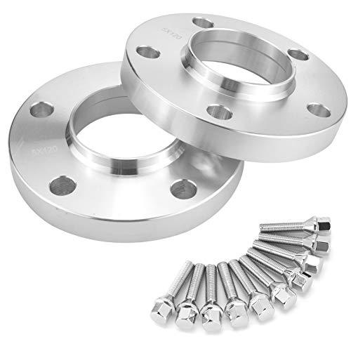 MorNon 2 Stk 5x120mm Spurverbreiterung Distanzscheiben Spurplatten Wheel Spacers mit 10 Radschrauben Kegelbund für 3 Series E36 E46 E90 E91 E92 20mm Hubcentric