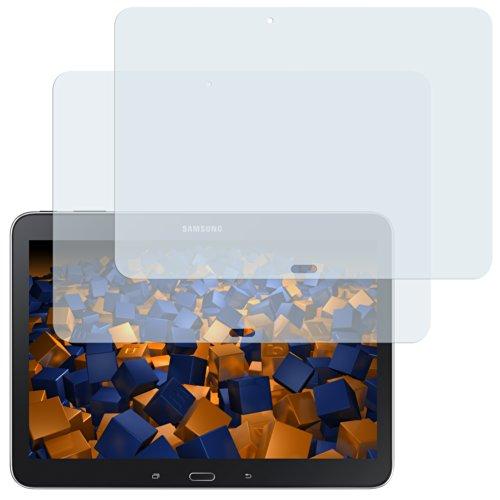 mumbi Schutzfolie kompatibel mit Samsung Galaxy Tab 4 10.1 Zoll Wi-Fi Folie klar, Bildschirmschutzfolie (2X)