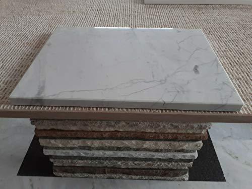 Tagliere in marmo bianco di Carrara qualità C 45x45 cm,spianatoia per impastare,base per pizza,tagliere per verdure e pane